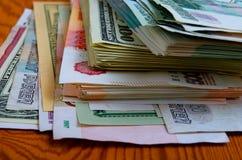 especulação do urrency do  de Rublo-dólar Ñ Fotos de Stock Royalty Free