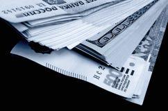 especulação do urrency do  de Rublo-dólar Ñ Imagens de Stock Royalty Free