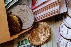Especulação do urrency do  do dólar Ñ do rublo Imagem de Stock