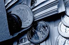 Especulação do urrency do  do dólar Ñ do rublo Fotos de Stock Royalty Free
