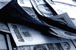 Especulación de la moneda el dólar de la rublo Imagenes de archivo