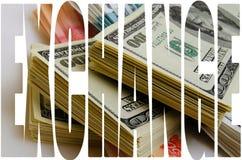 Especulación de la moneda el dólar de la rublo Fotos de archivo