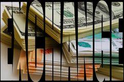 Especulación de la moneda el dólar de la rublo Foto de archivo libre de regalías