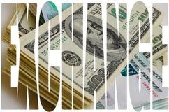 Especulación de la moneda el dólar de la rublo Fotos de archivo libres de regalías