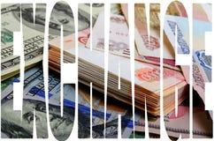 Especulación de la moneda el dólar de la rublo Fotografía de archivo