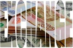 Especulación de la moneda el dólar de la rublo Imagen de archivo