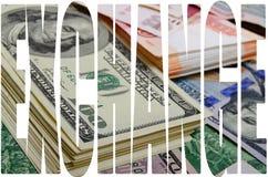 Especulación de la moneda el dólar de la rublo Fotografía de archivo libre de regalías