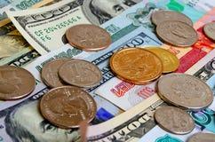 Especulación del urrency del  del dólar Ñ de la rublo Imagen de archivo libre de regalías