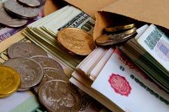 Especulación del urrency del  del dólar Ñ de la rublo Foto de archivo