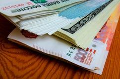 especulación del urrency del  del Rublo-dólar Ñ Imagen de archivo