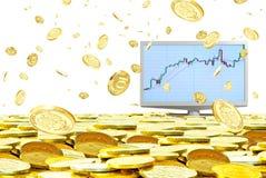 Especulación en el mercado de moneda. Foto de archivo libre de regalías