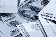 especulación del urrency del  del Rublo-dólar Ñ Fotografía de archivo libre de regalías
