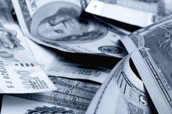 especulación del urrency del  del Rublo-dólar Ñ Foto de archivo