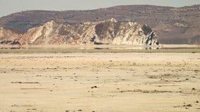 Espejismo en el desierto de Kavir de la rociada-e, Irán almacen de metraje de vídeo
