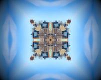 Espejo abstracto de la ciudad stock de ilustración