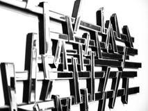 Espejo abstracto de la pared con diverso focus_4 Fotos de archivo libres de regalías