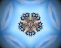 Espejo abstracto del pentágono de la ciudad ilustración del vector