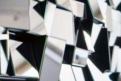 Espejo abstracto Primer fotografía de archivo
