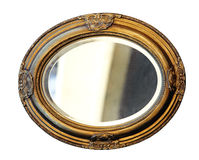 Espejo aislado Fotografía de archivo