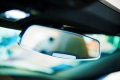 Espejo auto de la vista posterior Fotografía de archivo