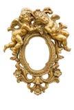 Espejo con ángeles Imagen de archivo libre de regalías