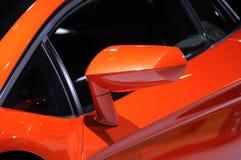 Espejo de ala del coche de Lamborghini Imágenes de archivo libres de regalías