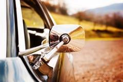 Espejo de coche clásico Fotografía de archivo