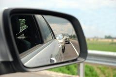 Espejo de coche de la visión trasera Imágenes de archivo libres de regalías
