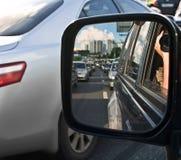 Espejo de conducción Imágenes de archivo libres de regalías