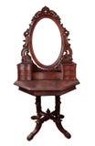 Espejo de madera del marco de la vendimia Foto de archivo