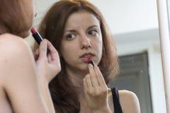 Espejo del maquillaje imagenes de archivo