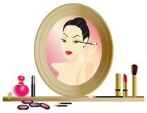 Espejo del maquillaje Foto de archivo libre de regalías