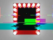 Espejo del maquillaje glitched Imagen de archivo libre de regalías