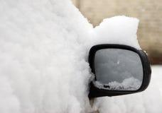 Espejo en el casquillo de la nieve Imagen de archivo libre de regalías