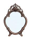 Espejo en una flor del marco metálico Fotografía de archivo