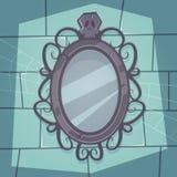 Espejo espeluznante stock de ilustración