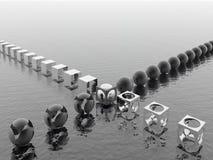 espejo Negro-blanco Foto de archivo libre de regalías