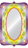 Espejo oval Fotos de archivo