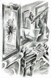 Espejo quebrado ilustración del vector