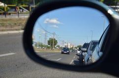 Espejo retrovisor foto de archivo libre de regalías