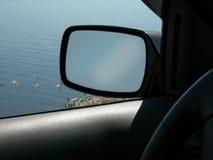 Espejo retrovisor Imagen de archivo libre de regalías
