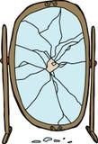 Espejo roto ilustración del vector