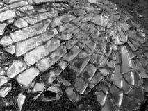 Espejo roto de la vista posterior del coche fotografía de archivo libre de regalías