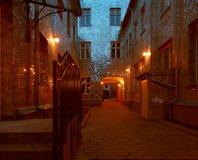 Espejos de la casa urbana imagen de archivo libre de regalías