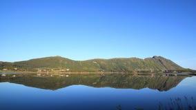 Espejos del verano de Lofoten Foto de archivo libre de regalías