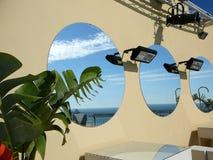 Espejos redondos foto de archivo libre de regalías