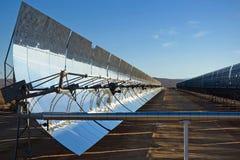 Espejos solares Foto de archivo libre de regalías