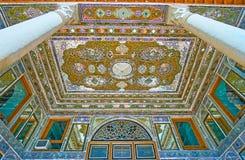 Espelhe testes padrões da casa de Qavam, Shiraz, Irã Fotografia de Stock Royalty Free