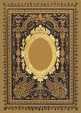 Espelho antigo do ouro do vintage ilustração stock