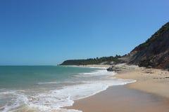 Cliffs in Trancoso, Bahia, Brazil. Espelho beach in Trancoso, Bahia, Brazil Scenic panorama of this unique tropical paradise stock images